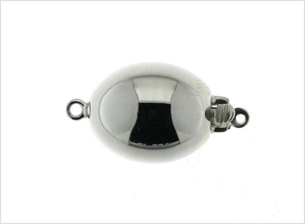 Oval polished ball clasp
