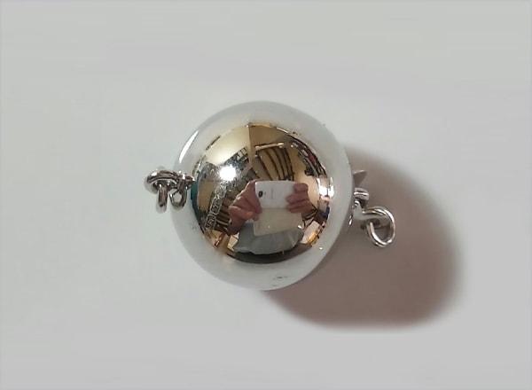 Plain polished ball clasp