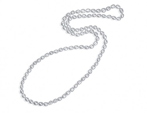 Grey baroque 8.5-9.5mm 'endless' pearl rope